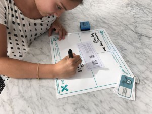student using board 1